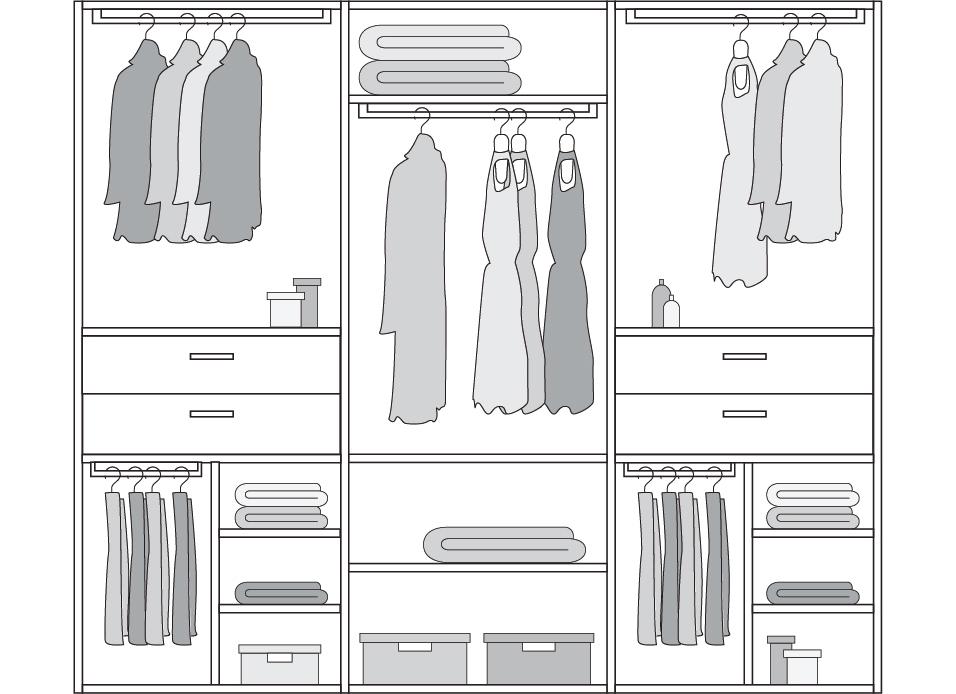 Esempio di interno armadio