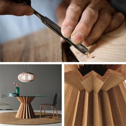 Mobili di design in legno massello