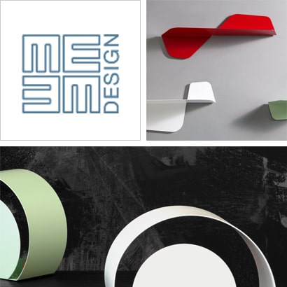 Tavolini complementi design lamiera colorata
