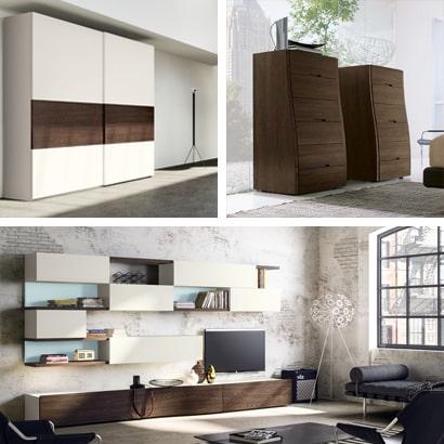 Mobili moderni in vero legno per soggiorno e camera da letto