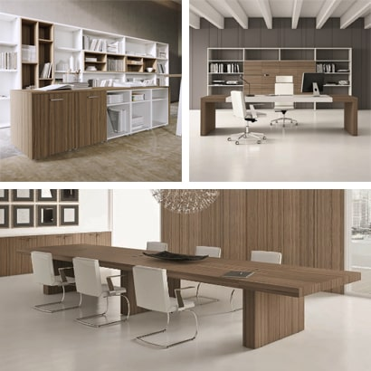 Office desks, wardrobes, chest of drawers and cabinets for the workplace