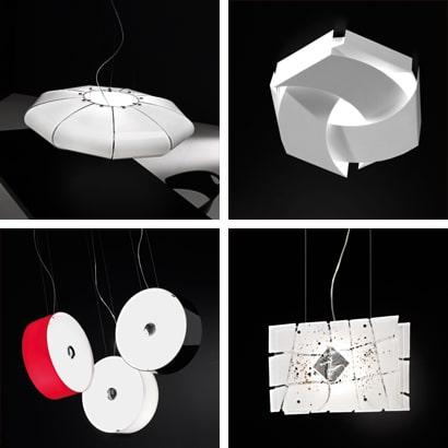 Lampade da tavolo, lampade da sospensione e applique moderne realizzate in vetro soffiato