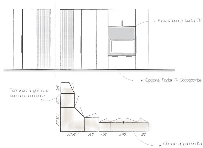 Arredaclick blog 2 idee per arredare una camera lunga e for Camera letto stretta e lunga