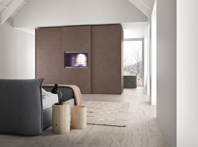 Armadio divisorio scorrevole porta tv - Wide