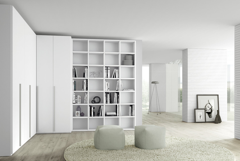 Idee - Il progetto di Flavia: una parete attrezzata ad angolo con armadio e libreria - ARREDACLICK