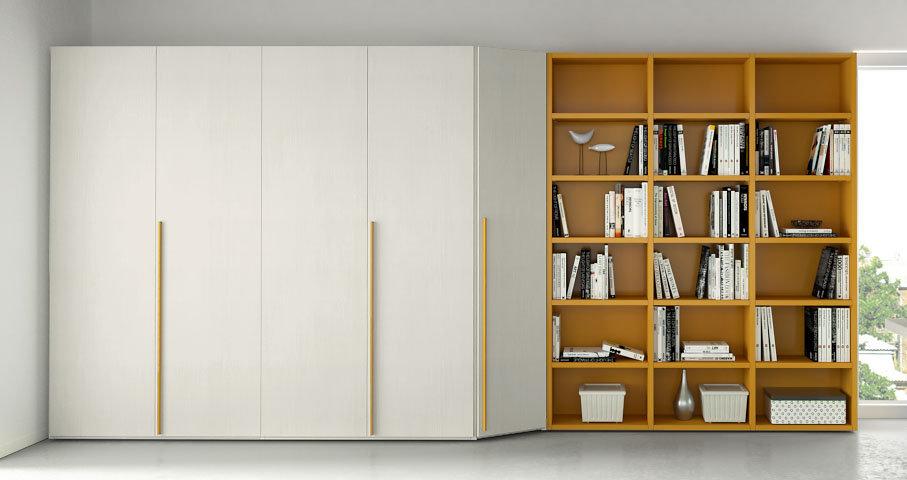 Idee il progetto di flavia una parete attrezzata ad for Libreria ad angolo