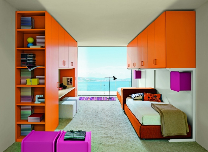 ... Ponte In Arte Povera : Camera da letto con due armadi ikea economica e