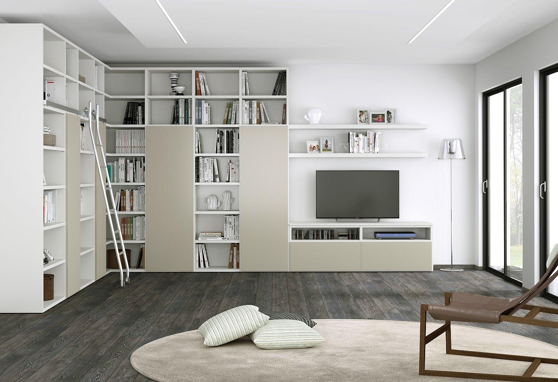 Idee il progetto di flavia una parete attrezzata ad for Parete soggiorno ad angolo