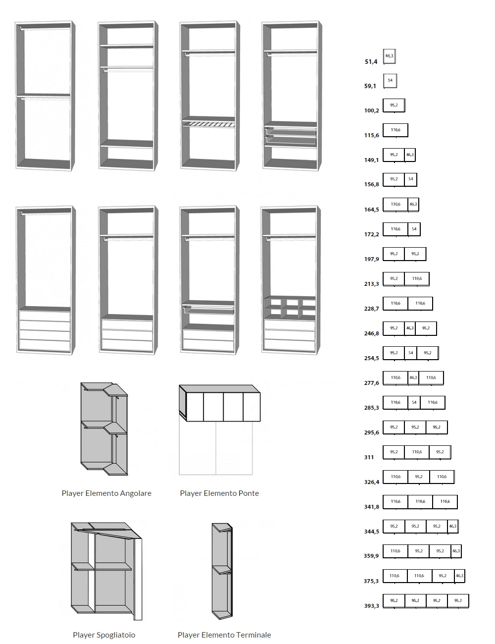 Dimensioni Mobili Cucina Componibile. Best Scegli Il Modello With ...