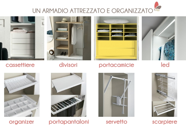 Idee un armadio su misura online risparmiare progettando in autonomia arredaclick - Divisori per cassetti cucina ...