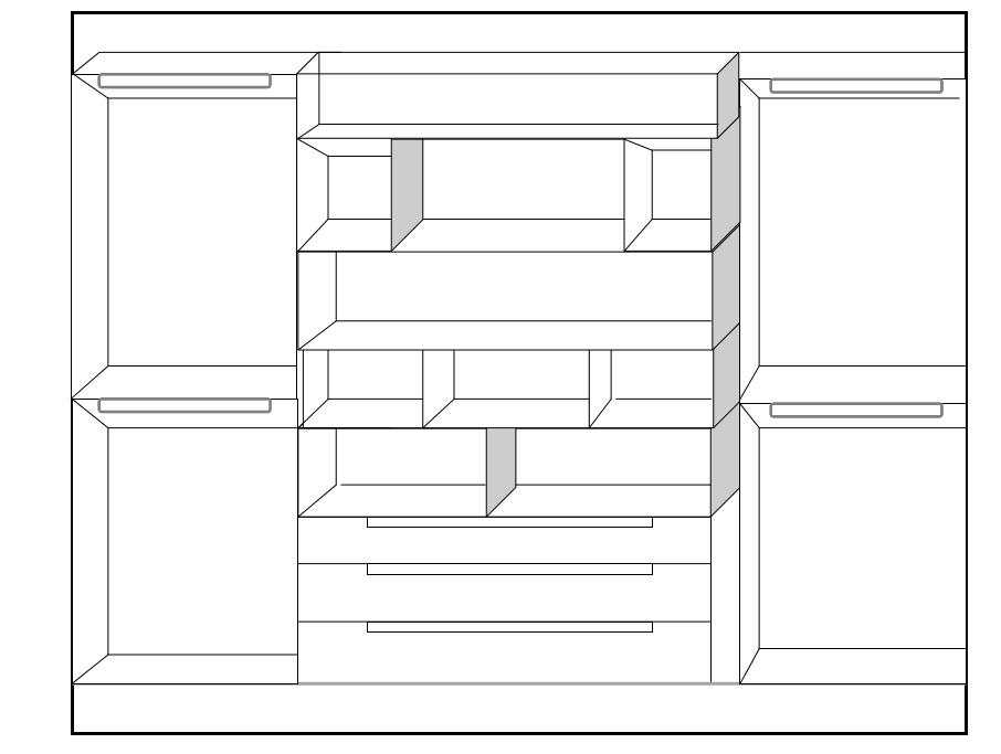 Idee il progetto di flavia una cabina armadio a vista for Costruendo una piccola cabina con soppalco