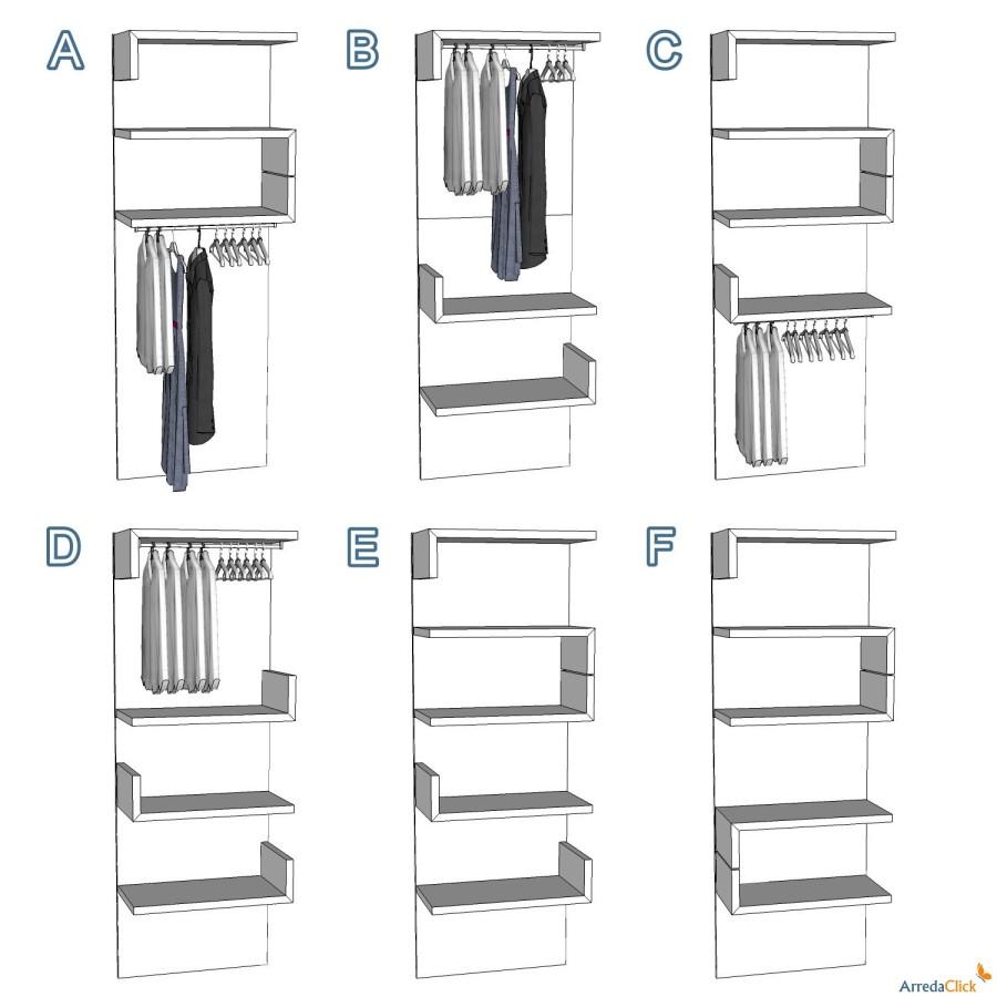Idee il progetto di pamela una cabina armadio in for Idee di pavimentazione cabina di log
