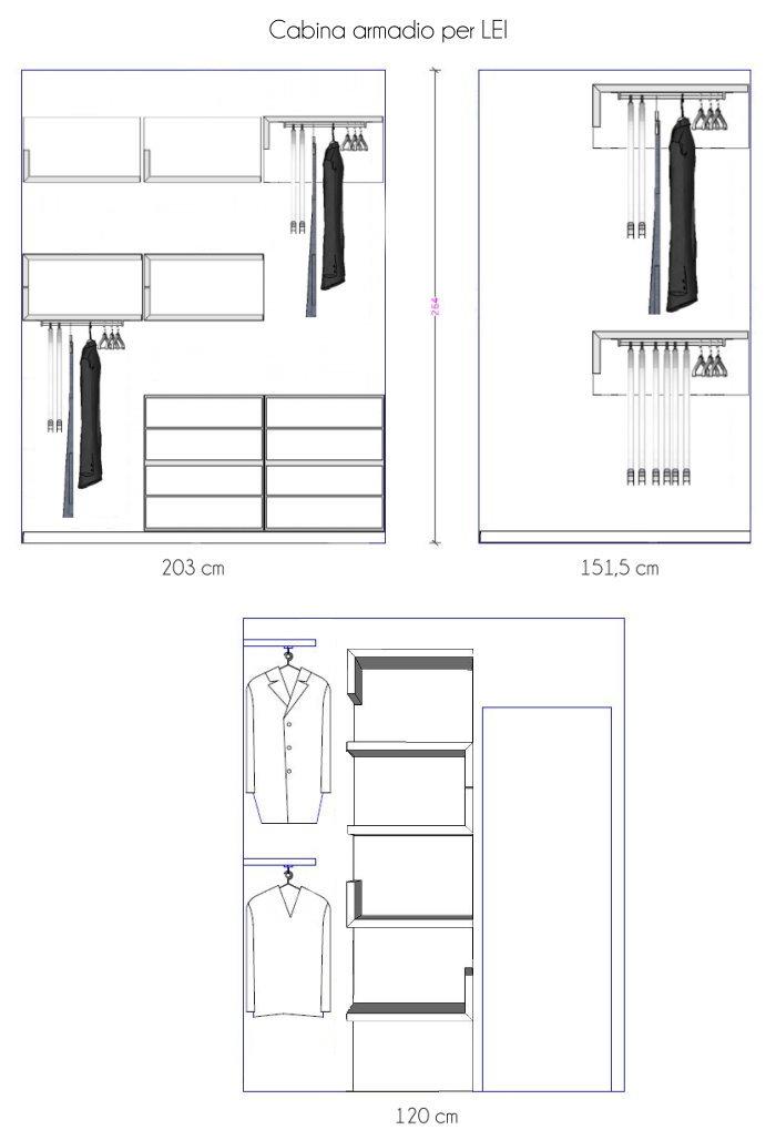 Idee cabina armadio piccola e stretta un progetto per lei arredaclick - Moduli per cabina armadio ...