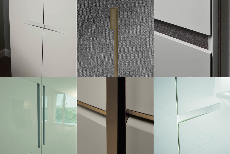 Esempi maniglie integrate nell'anta dell'armadio
