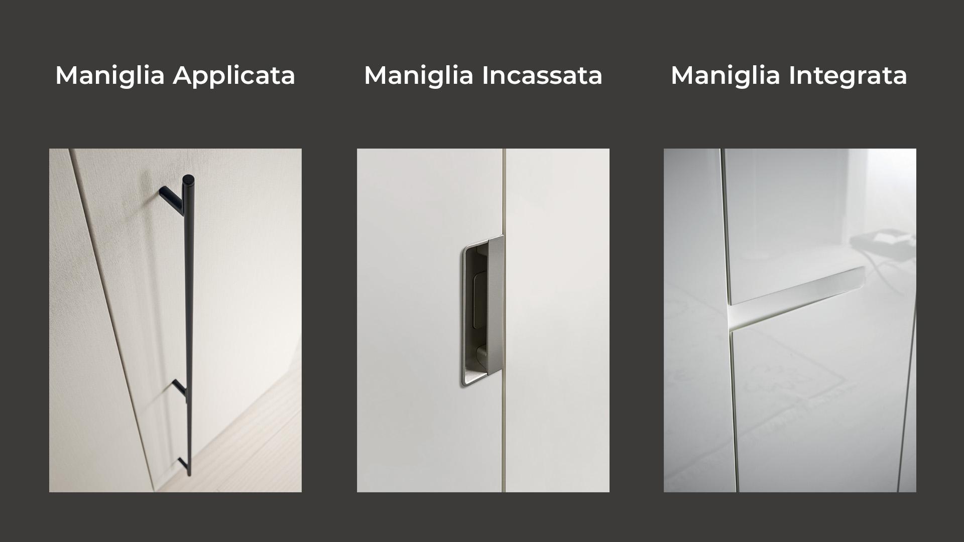 Maniglie armadio: applicate, incassate, integrate