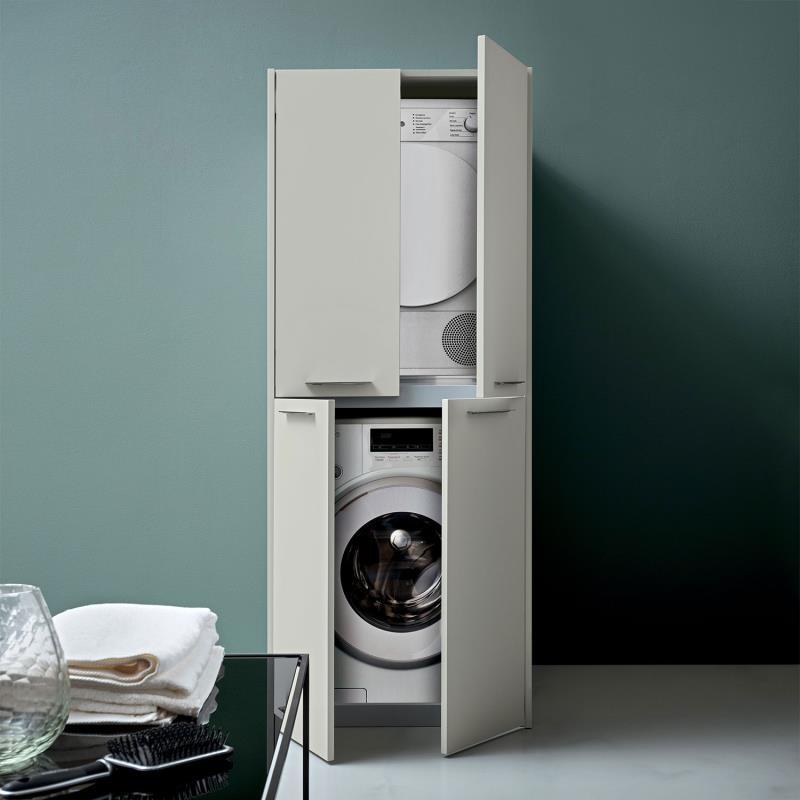 Colonna lavatrice-asciugatrice a 4 ante