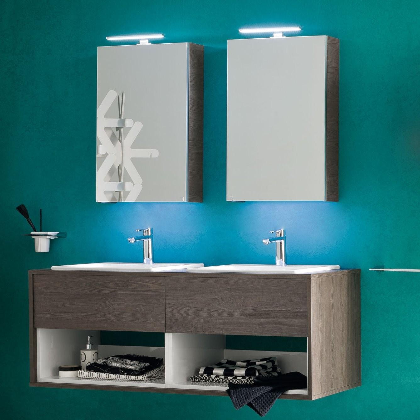 Idee il progetto di flavia mobile bagno sospeso con doppio lavabo arredaclick - Lavandini con mobile bagno ...