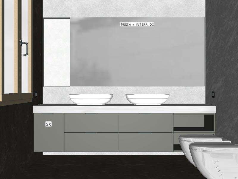 Idee il progetto di flavia mobile bagno sospeso con for Mobile bagno 2 lavabi