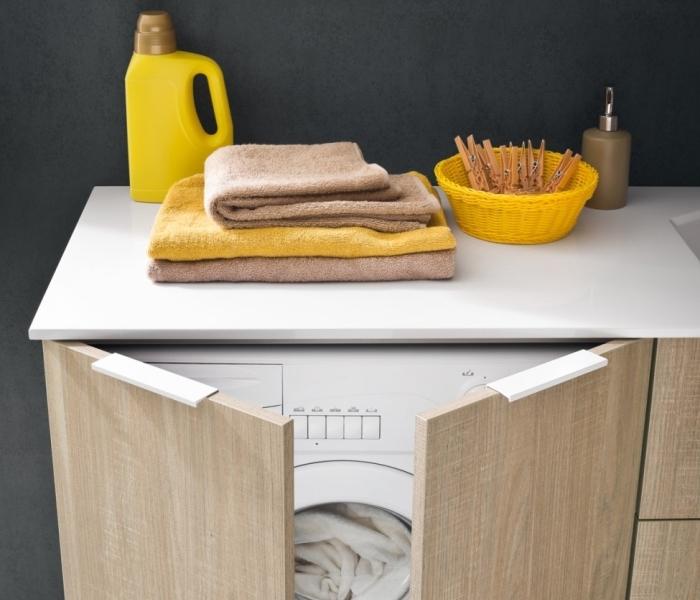 Arredaclick blog la lavatrice in bagno 3 soluzioni for Mobile per lavatrice e asciugatrice da esterno