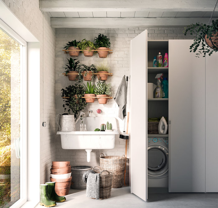 Idee armadio per lavanderia 5 soluzioni arredaclick for Lavatrice balcone