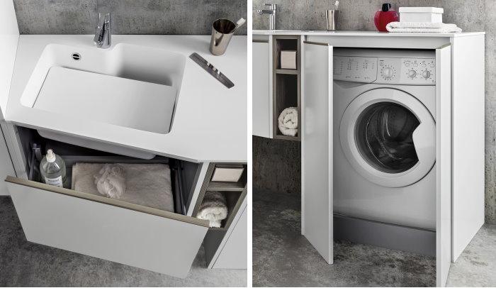 Angolo Lavanderia Stireria : Idee armadio per lavanderia soluzioni diotti