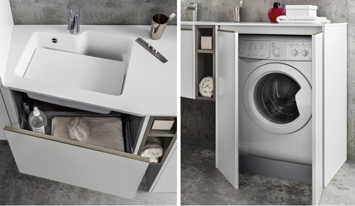 Arredaclick blog armadio per lavanderia 5 soluzioni per - Arredo bagno lavatrice ...