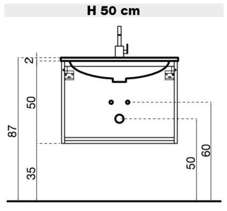 Idee - Il progetto di Flavia: mobile bagno sospeso con doppio lavabo ...