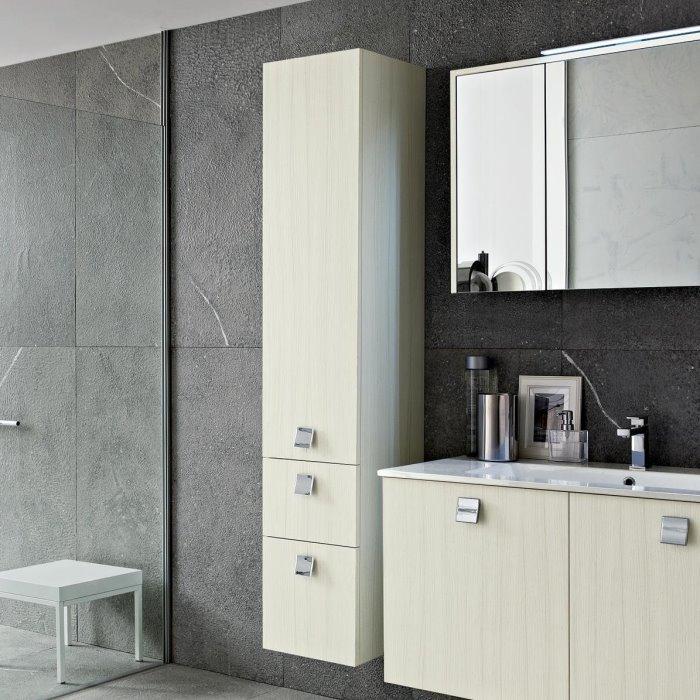 Idee mobile bagno con colonna minimo ingombro massima - Mobile alto bagno ...