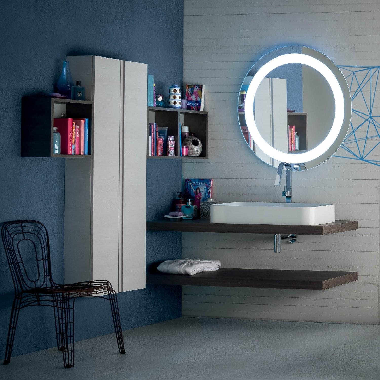 Idee mobile bagno moderno una mensola per il lavabo - Bagno rustico moderno ...