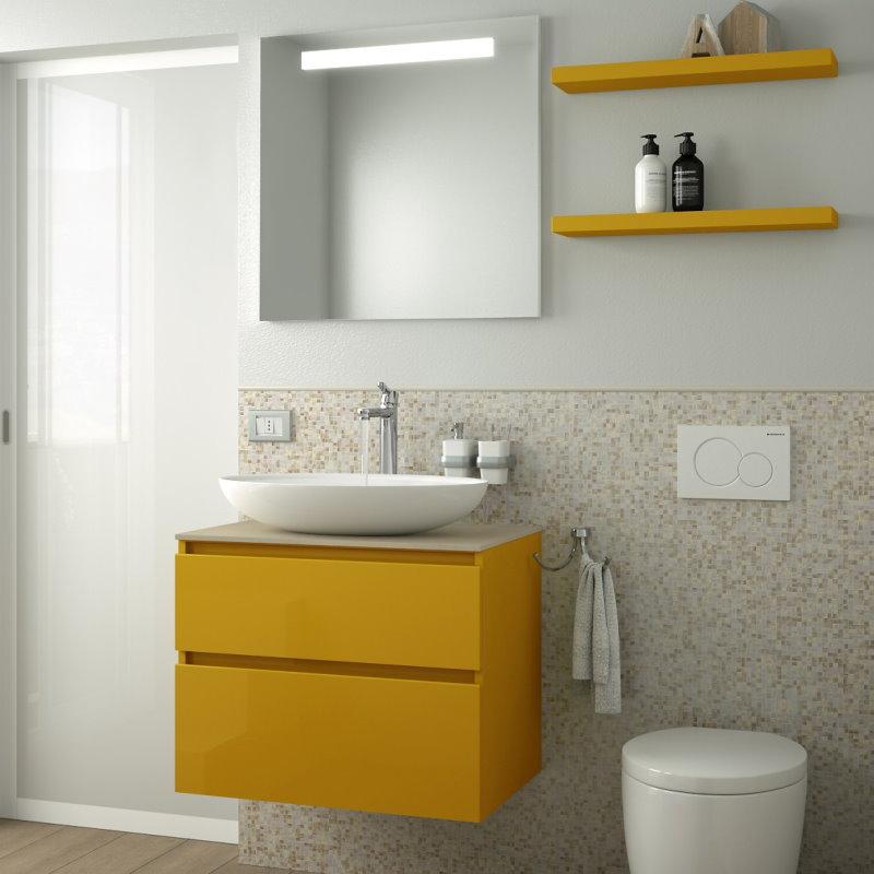 Idee mobile bagno 70 cm compatto e funzionale arredaclick - Mobile bagno 70 cm ...