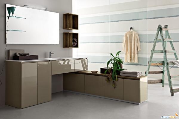 Arredaclick blog un mobile bagno con porta lavatrice in meno di 2 metri arredaclick - Mobile lavandino lavatrice ...