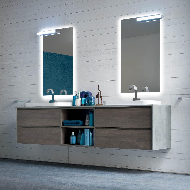 Idee un bagno per due mobile con doppio lavabo for Mobili bagno bricoman