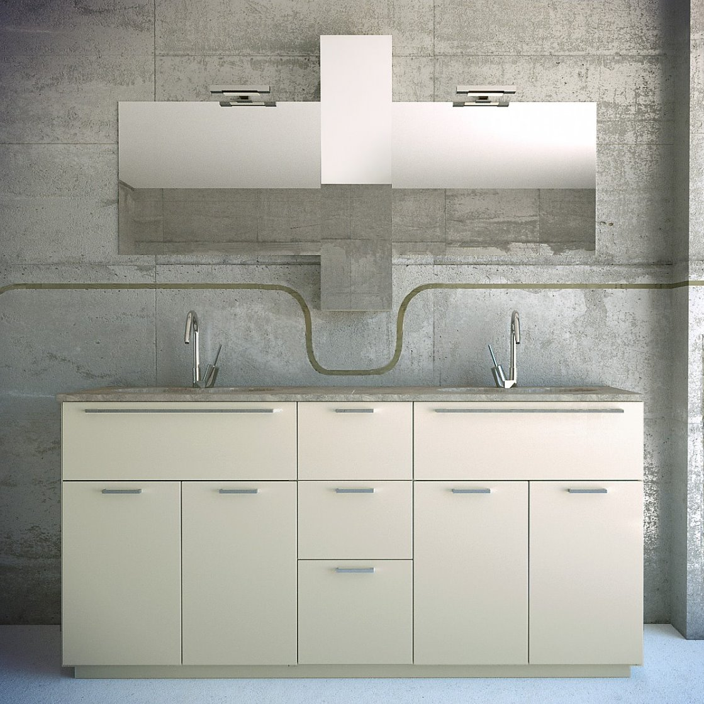 Arredaclick blog un bagno per due mobile con doppio - Lavello bagno appoggio ...