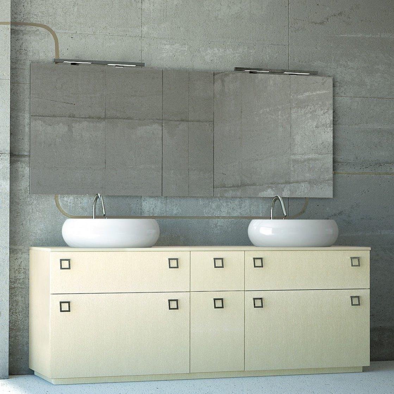Arredaclick blog un bagno per due mobile con doppio - Mobile bagno con doppio lavabo ...