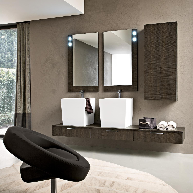 Arredaclick blog un bagno per due mobile con doppio - Lavandino bagno sospeso ...