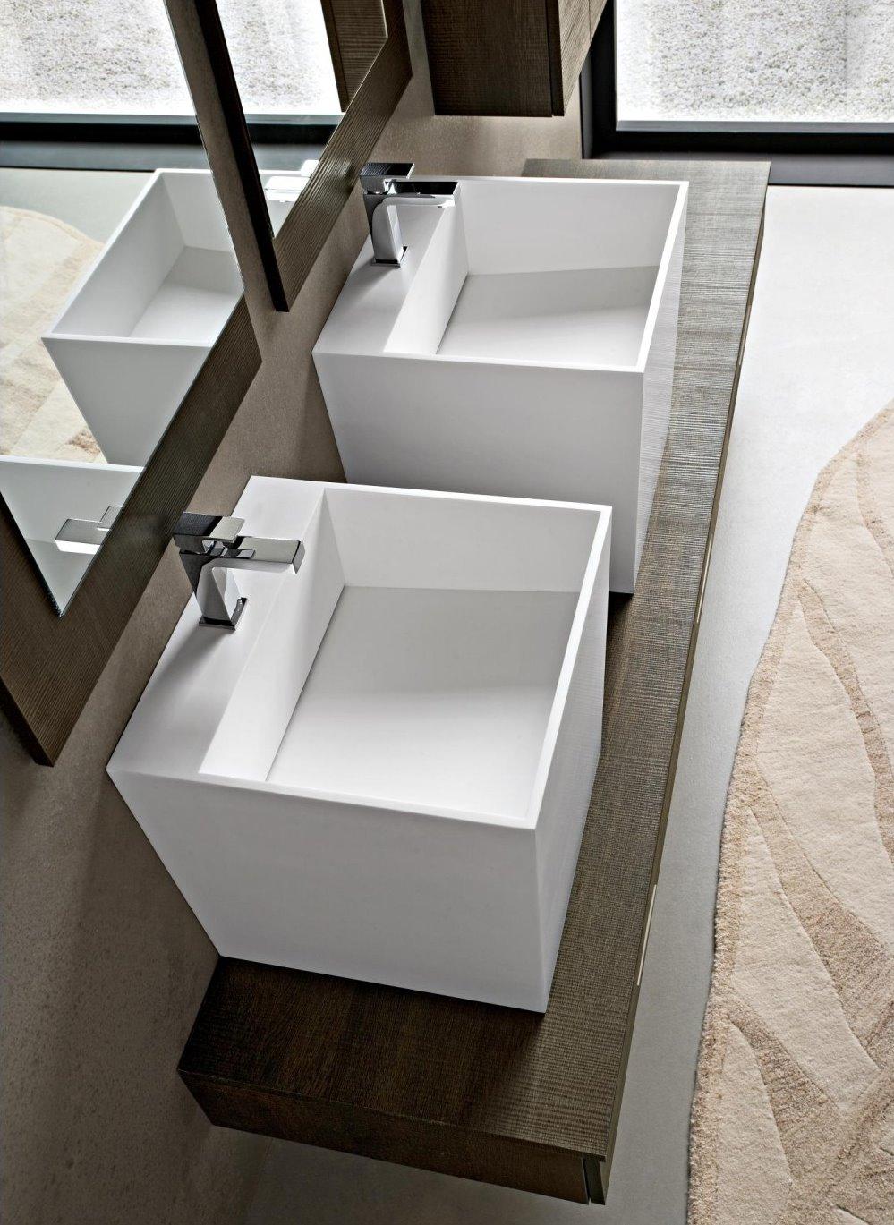 Idee un bagno per due mobile con doppio lavabo - Lavandini design bagno ...