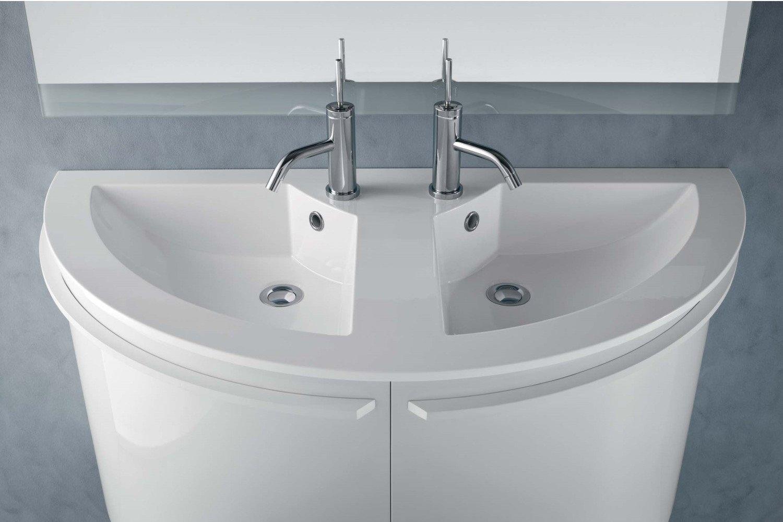 ARREDACLICK BLOG - Un bagno per due: mobile con doppio lavabo ...