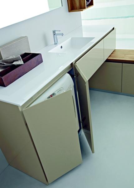 Idee - Un mobile bagno con porta lavatrice in meno di 2 metri ...