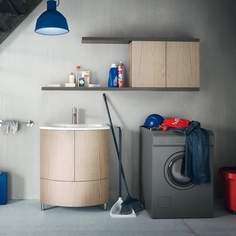 Mobile per lavanderia cm 70 con lavatoio