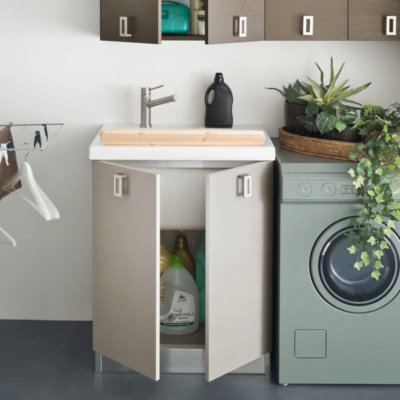 Mobile bagno 70 cm con lavatoio, ideale nella zona lavanderia