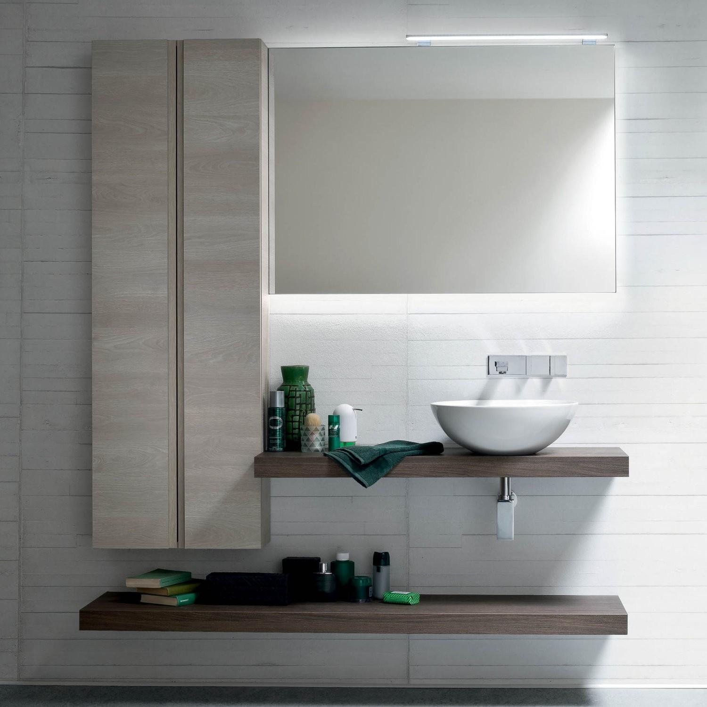 Idee mobile bagno moderno una mensola per il lavabo - Dimensioni lavandino bagno ...