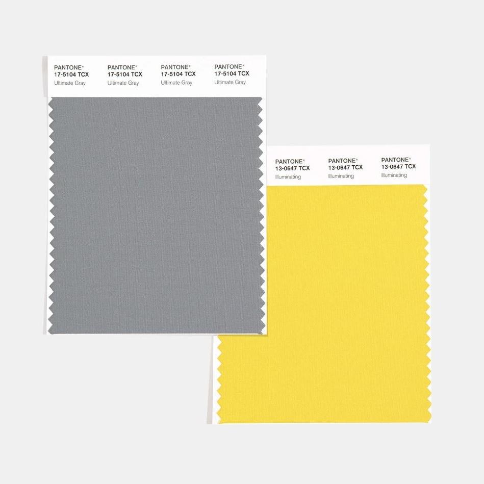 Ultimate Gray e Illuminating cotton swatch cards - Sito Ufficiale Pantone