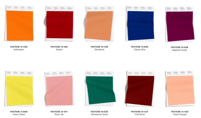 Dieci colori autunno/inverno 2020/2021 eletti da Pantone