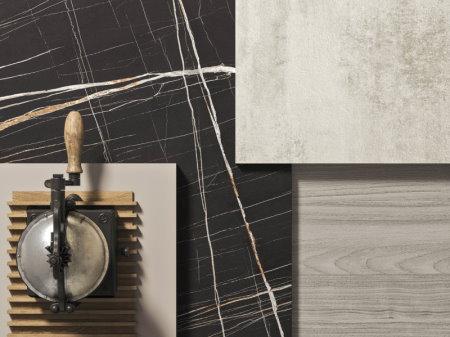 Moodboard #3 - marmo nero abbinato al legno chiaro