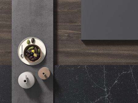 Moodboard #4 - marmo nero abbinato al legno scuro
