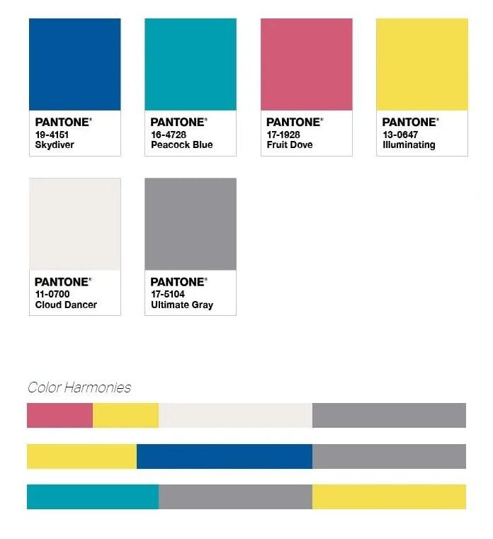 Palette Pantone Aviary