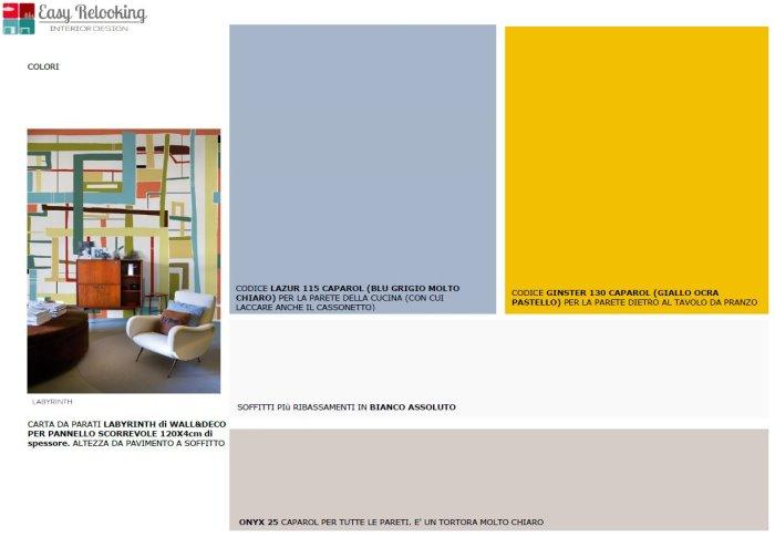 Idee il progetto un 39 idea per dividere cucina e sala da for Colori per pareti sala da pranzo