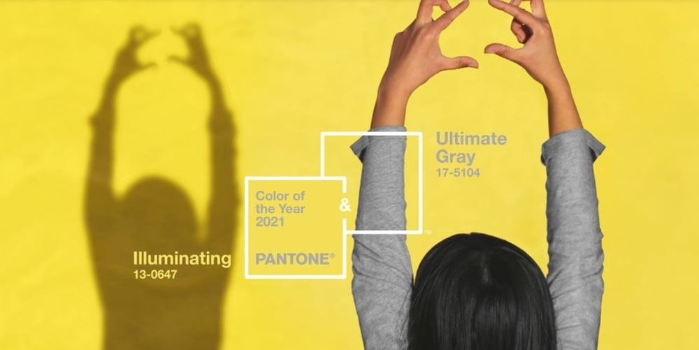 Colors of the Year 2021 - Locandina del sito ufficiale Pantone