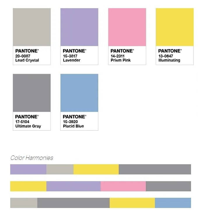 Palette Pantone Enlightment