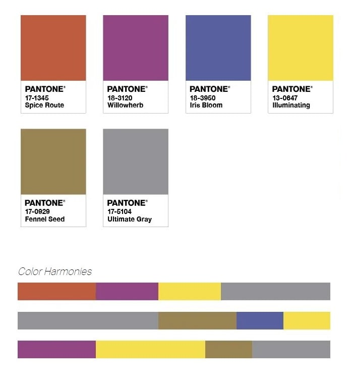 Palette Pantone Intrigue